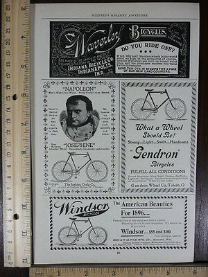 Rare Original VTG Napoleon & Josephine, Windsor Bicycles Advertising Art Print