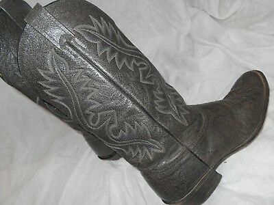 GRAY NACONA Classic Style MENS Leather Western Cowboy Boots SZ 8.5 EE