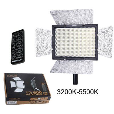 Yongnuo YN600 Pro 3200K - 5500K LED Lamp Video Light for Canon Nikon Camera US