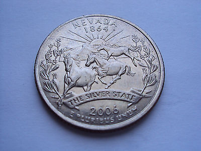 US 2006 Nevada state quarter The Silver State 25 cent coin (+ Combined shipping)