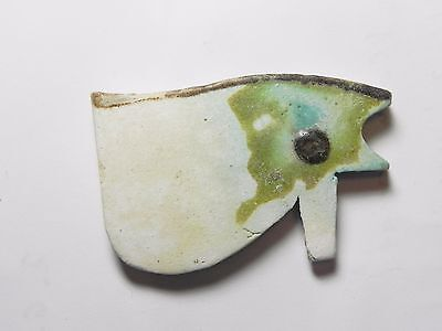 Zurqieh -Tat4- Ancient Egypt , Large Faience Eye Of Horus. 600 - 300 B.c