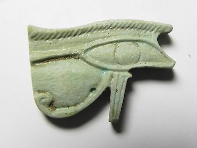 Zurqieh -Tat5- Ancient Egypt , Large Faience Eye Of Horus. 600 - 300 B.c