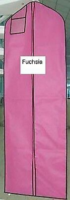 Fuchsia Breathable Cloth Wedding Gown Dress Garment Bag