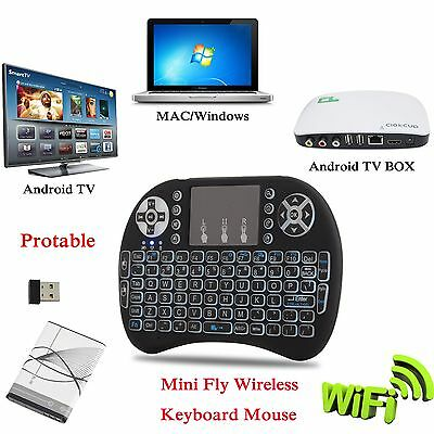 2.4 GHz I8 USB Air Mouse Wireless Keyboard for XBMC KODI Android TV BOX Backlit