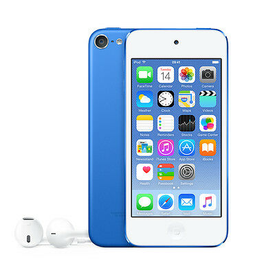 "Apple MKH22BT/A 4"" iPod Touch 6th Gen 16GB with Retina Display - Blue A"