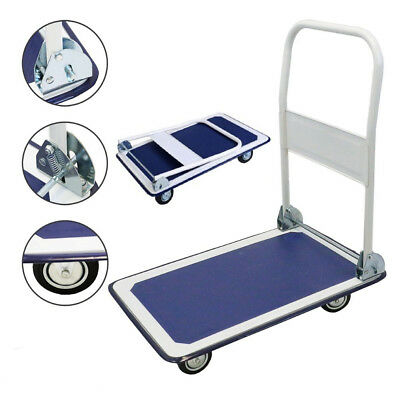 330lbs Platform Cart Dolly Folding Foldable Push Hand Truck Moving Warehouse