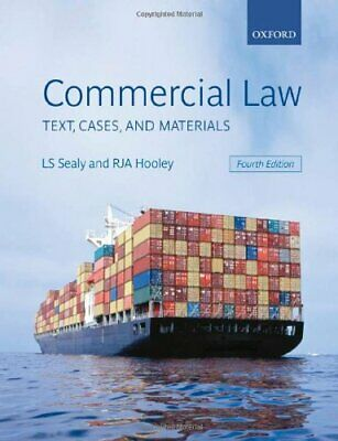 Commercial Law: Text, Cases, and Materials, Hooley, RJA Paperback Book The Cheap