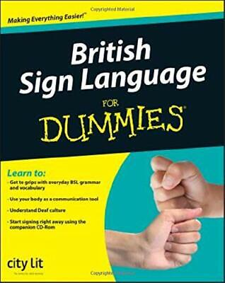 British Sign Language For Dummies by City Lit Paperback Book The Cheap Fast Free