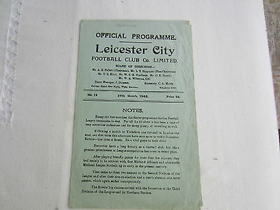 1947-48 LEICESTER CITY v DONCASTER ROVERS