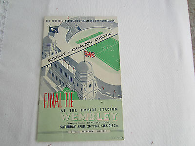 1946-47 FA CUP FINAL TIE BURNLEY v CHARLTON ATHLETIC