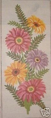 Gerberas Flower Panel Tapestry Needlepoint Canvas