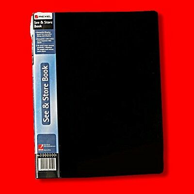 Rexel See And Store A4 Display Book 60 Pocket Black 10565Bk Presentation