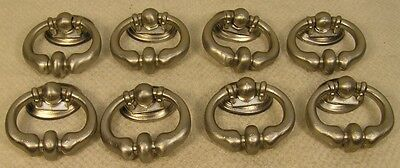 8 Vintage Style Satin Nickel Handles Drop Pulls Cabinet Furniture Hardware ' • CAD $25.17