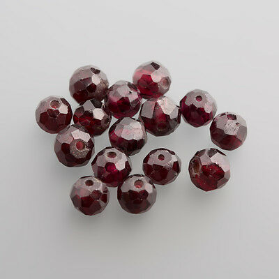 Almandine Garnet Balls facetted ca. 6,00 mm drilled through (garnet)
