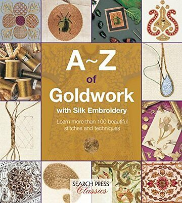 A-Z of Goldwork w/ Silk Embroidery - Country Bumpkin - embroidery book (A - Z)