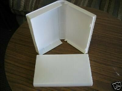 100 Standard Vhs Cases With Outer Full Sleeve - White - Psv12 No Hub