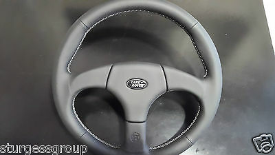 Startech Land Rover Defender Pre 2015 Black Leather Sports Steering Wheel BNIB