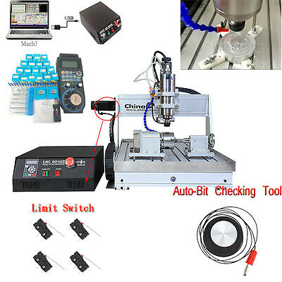 1.5KW four axis CNC Router 6040 cnc engraver MILLING engraving machine