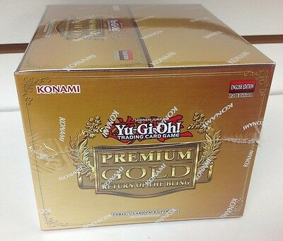 YU-GI-OH Premium Gold RETURN OF THE BLING 1st Edition SEALED BOOSTER BOX YUGIOH