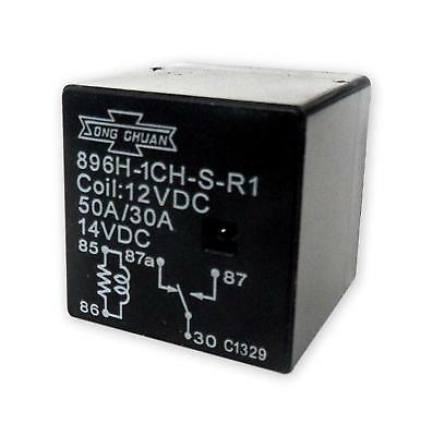 Auto / Boat / Truck Relay 12VDC 50A/30A Song Chuan  896H-1CH-S-R1