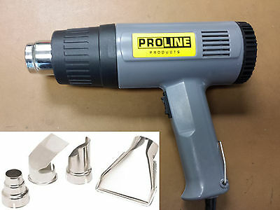 HeatGun NEW Pro 1500 Watt Dual Temperature Heat Gun w/ 4pcs Nozzles/UL approved