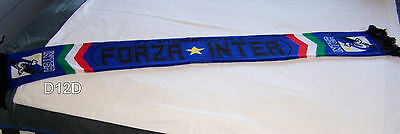 Inter Milan Blue Black Jacquard Warm Football / Soccer Scarf New