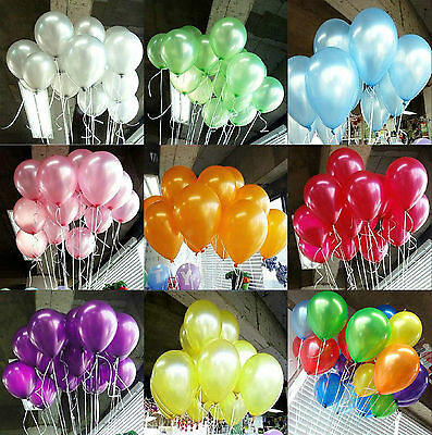 """100Pcs 10"""" Inch Latex Helium Or Air Balloons For Party Wedding Birthday Decor"""