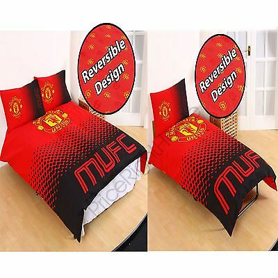 Manchester United Fc Fade Duvet Cover Sets - Single & Double - Official Bedding