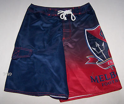 Melbourne Demons AFL Boys Sublimated Printed Board Shorts Size 10 New