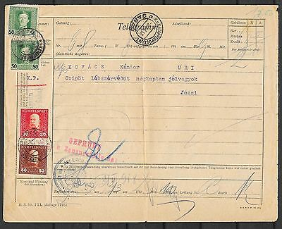 Bosnia covers 1918 Telegram KuK Etappenpostamt SABAO