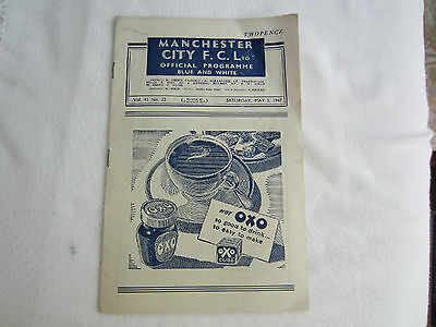1946-47 DIV 2 MANCHESTER CITY v NEWCASTLE UNITED
