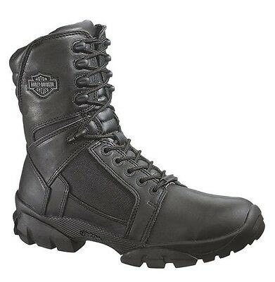 Harley-Davidson® Men's Lynx Waterproof Black Leather Motorcycle Boots D95149