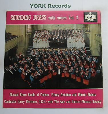 SOUNDING BRASS WITH VOICES VOL 2 - Harry Mortimer - Ex LP Record Decca LK 4278