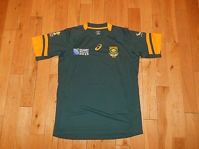 NEW 2015 ASICS South Africa Springboks RWC Rugby World Cup Jersey Kit Mens Med