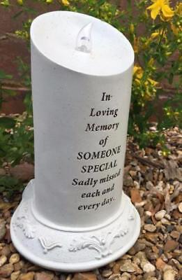 Someone Special Memorial Tribute Solar Power Flickering LED Candle DF17131P