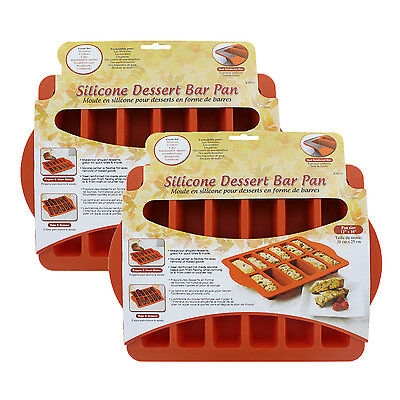Chicago Metallic Silicone Metallic Dessert Bar Pan, Pack of 2