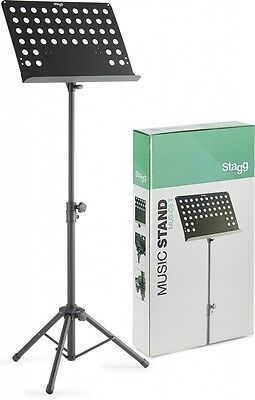 Stagg Model MUS-C5 T Orchestral Music Stand with Holes - black
