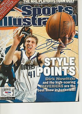 DIRK NOWITZKI Signed SPORTS ILLUSTRATED with PSA COA (NO Label)