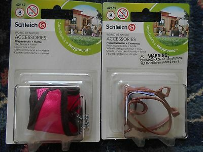 SADDLE & BLANKET by Schleich;42165,42167,horse accessories, NICE!!