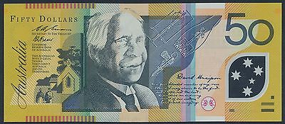 Australia 1995 $50 Fraser-Evans (R.516a) Error Missing Reverse Print & Repeat No