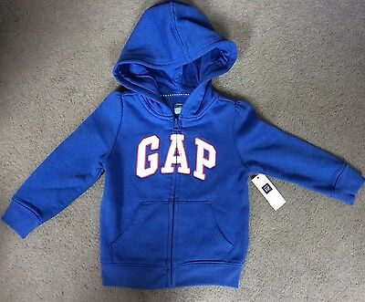 Gap- Bright Blue Hoodie With Logo In White With Pink Edge & Silver Trim- Bnwt