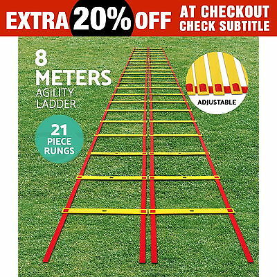 8M Agility Ladder Speed Sport Training Aids Soccer Fitness Boxing 21 Rungs