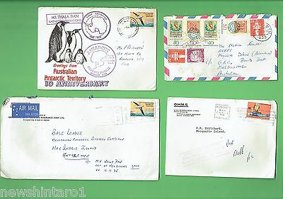 #t17.  Eighteen  Used Envelopes Related To Macquarie Island Antarctic Base