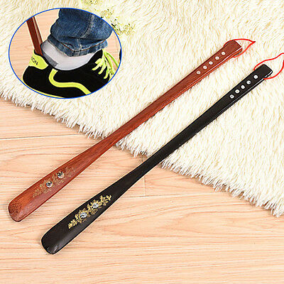 55cm 22.5cm Wooden #L Long Handle Shoe Horn Lifter Shoehorn Durable Shoes Guide