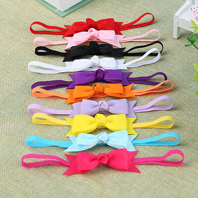 10Pcs Bow Headband Hair Bowknot Infant Baby Head Toddler Girls Accessories cute