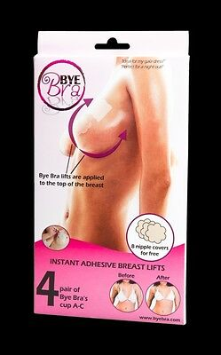 Bye Bra, Breast lift & silk nipple covers Cup A-C 8x + 8x covers ByeBra 9010 IT