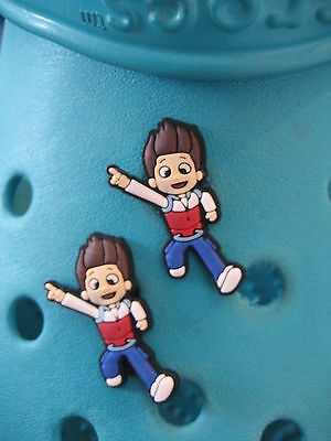 2 Ryder Paw Patrol Shoe Charms For Crocs & Jibbitz Wristbands. Free UK P&P.