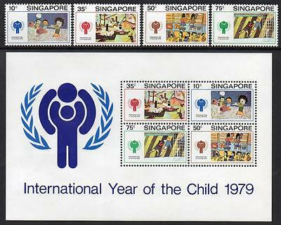SINGAPORE MNH 1979 YEAR OF THE CHILD Stamps and minisheet