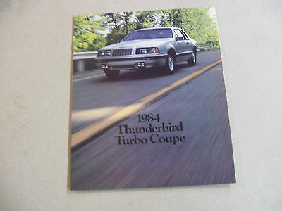 Incredible 1984 FORD Thunderbird Turbo Coupe Automobile Brochure
