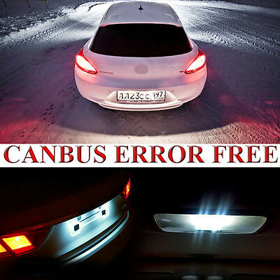 2 For VW Scirocco 137 Xenon White LED Canbus Number Plate Light Bulbs Error Free